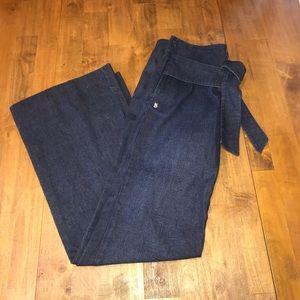 Found Denim Sash Mid Rise Wide Leg 28 Jeans